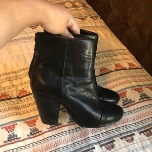 Rag & Bone Newbury Black Leather Booties